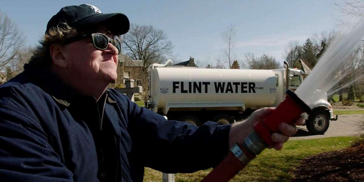 """Michael Moore in the film """"Fahrenheit 11/9."""""""