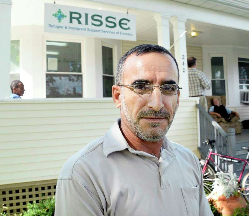 Syrian refugee Ibrahim Alkahraman discusses his worries over his three sons still in Jordan during an interview at the RISSE outreach center in the Pine Hills neighborhood Tuesday Sept. 18, 2018 in Albany, NY. (John Carl D'Annibale/Times Union)