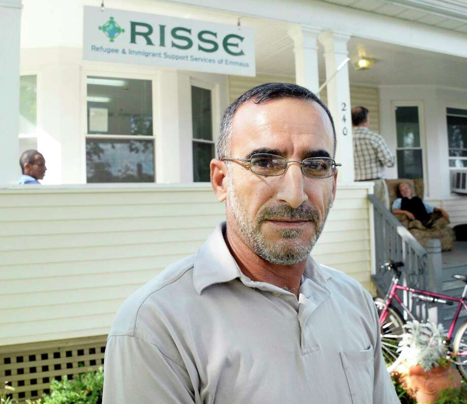 Syrian refugee Ibrahim Alkahraman discusses his worries over his three sons still in Jordan during an interview at the RISSE outreach center in the Pine Hills neighborhood Tuesday Sept. 18, 2018 in Albany, NY.  (John Carl D'Annibale/Times Union) Photo: John Carl D'Annibale, Albany Times Union / 20044873A