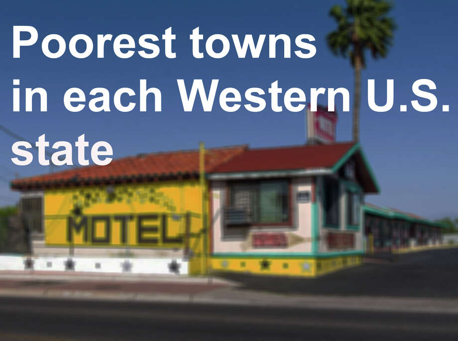 What's the poorest town in your state? What's the town poverty rate? Click through to see the town in each Western U.S. state that has the lowest town median household income. Photo: Wikimedia Commons