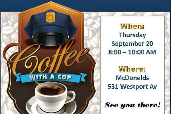 On Thursday, Sept. 20, 2018, Norwalk, Conn., officers are hosting Coffee with a Cop.