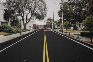 An illustration of the Wakelee Avenue reconstruction scheduled to be completed by the end of the year in Ansonia, Conn.