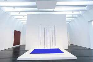 """Yves Klein's """"Blue Rain"""" (Pluie Bleue) has belonged to the Menil Collection for years but will be on display there for the first time when the museum reopens Saturday. It's on view in the post-war and contemporary art galleries in the east wing."""