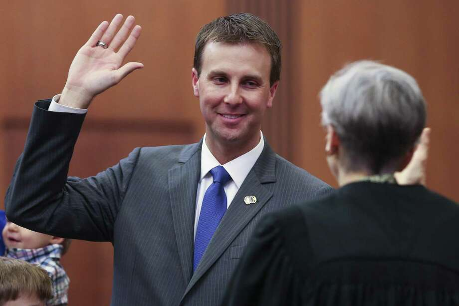 U.S. Attorney Ryan K. Patrick is sworn in at an investiture ceremony by United States District Court for the Southern District of Texas Chief Judge Lee H. Rosenthal at the federal courthouse Tuesday Sept. 18, 2018, in Houston. Photo: Michael Ciaglo, Houston Chronicle / Staff Photographer / Michael Ciaglo
