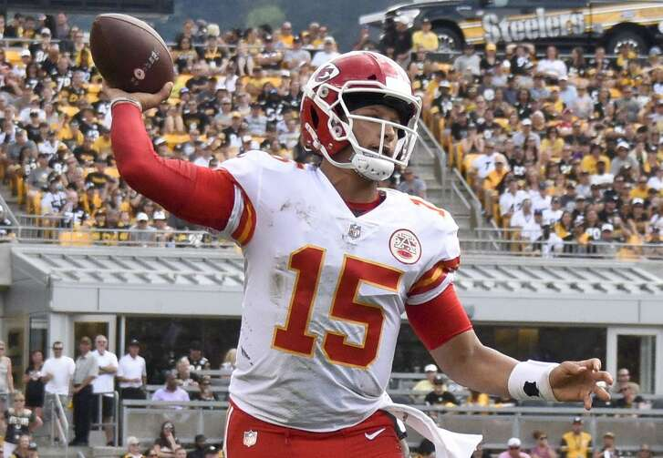 Chiefs quarterback Patrick Mahomes, drafted two spots ahead of the Texans' Deshaun Watson last year, has already thrown 10 touchdown passes in Kansas City's 2-0 start.