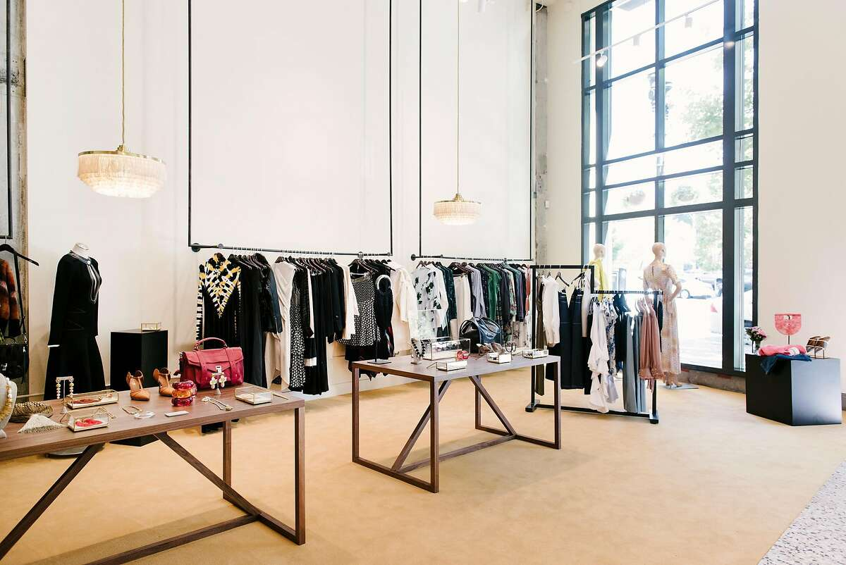 Items for sale are displayed at women's fashion shop McMullen at it's new location in Oakland, CA, on Monday September 17, 2018.