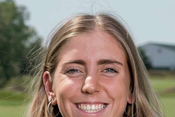 In this Sept. 7, 2017, photo provided by Iowa State University in Ames, Iowa, golfer Celia Barquin Arozamena poses for a photo. The former ISU golfer was found dead Monday, Sept. 17, 2018, at a golf course in Ames. Collin Daniel Richards, was arrested and charged with first-degree murder in her death. (Luke Lu/Iowa State University via AP)