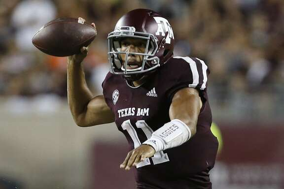 Texas A&M sophomore quarterback Kellen Mond has improved his accuracy from 51.5 percent last season to 62.9 percent so far this year, and his passer rating has skyrocketed from 108.8 to 162.9.