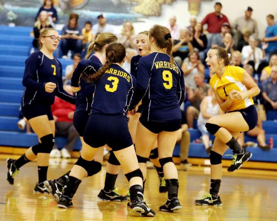 Kingston at North Huron — Volleyball Photo: Paul P. Adams/Huron Daily Tribune