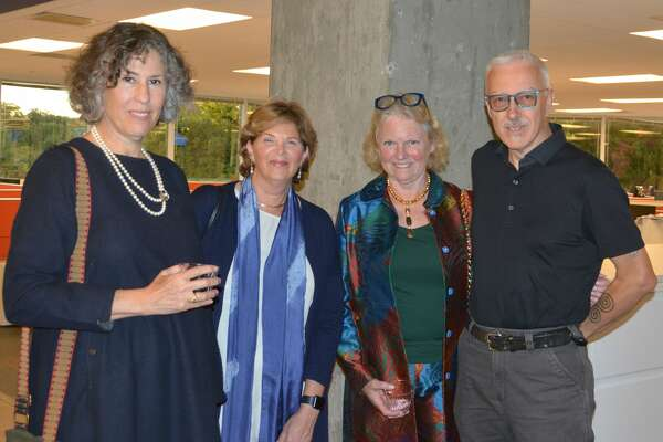 Hearst Connecticut Media Group hosted areception for the Silvermine Arts Center artists Roz Chast and Leslie Giuliani in Norwalk on September 18, 2018. Guests enjoyed displayed artwork that will be up through mid-October. Were you SEEN?
