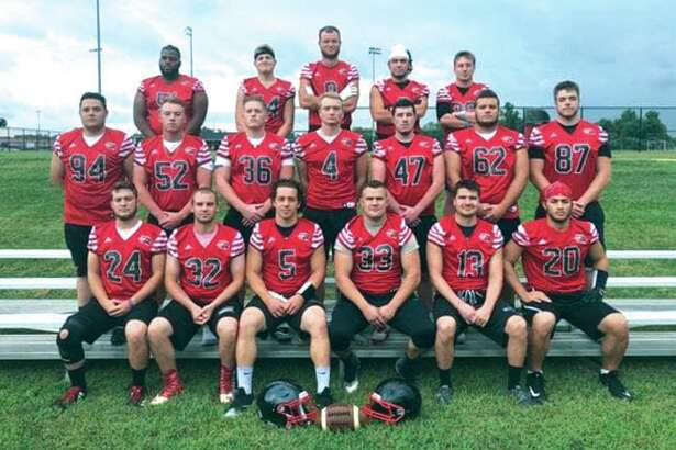The SIUE Club Football team poses for a photo. SIUE is a member of the National Club Football Association and competes in the Great Lakes West Conference.