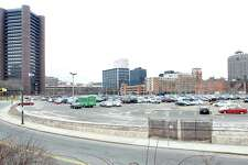 Parking at the site of the former New Haven Coliseum