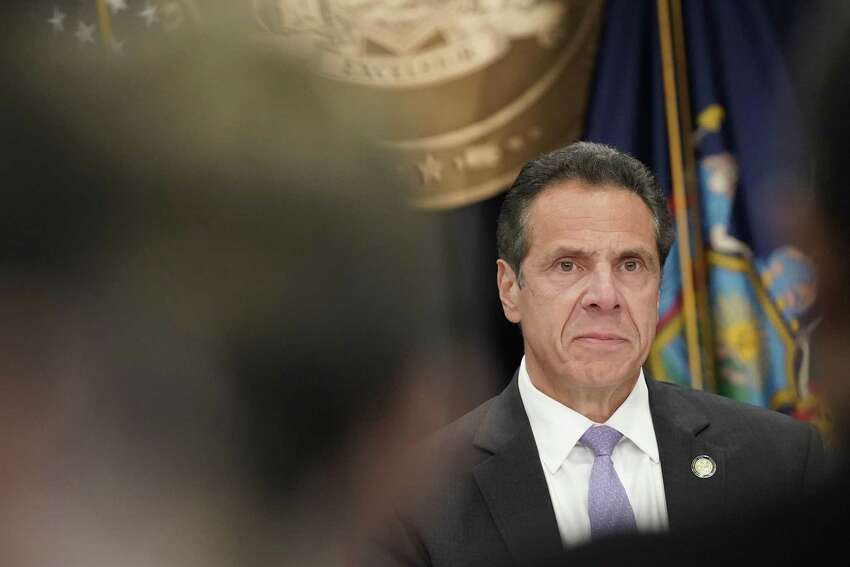 Gov. Andrew Cuomo at a news conference the day after he won the Democratic nomination, in New York, Sept. 14, 2018. Cuomo took a decisive step toward a third term on Thursday, quelling a liberal rebellion by turning aside the insurgent challenge of Cynthia Nixon. (Jeenah Moon/The New York Times)