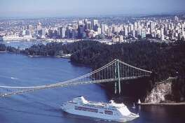 The Star Princess leaves Vancouver, a main staging area for Alaska cruise ships.