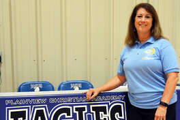 Peri Keefner took the position as Plainview Christian Academy's junior varsity and varsity head volleyball coach just after Labor Day. After a 20-year coaching hiatus, she said it was 'the grace of God' that allowed her to coach again.