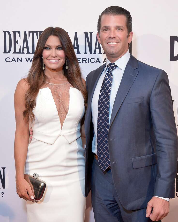 "FILE -- Donald Trump, Jr. and Kimberly Guilfoyle attend the DC premiere of the film, ""Death of a Nation,"" at E Street Cinema on August 1, 2018 in Washington, DC. Photo: Shannon Finney/Getty Images"