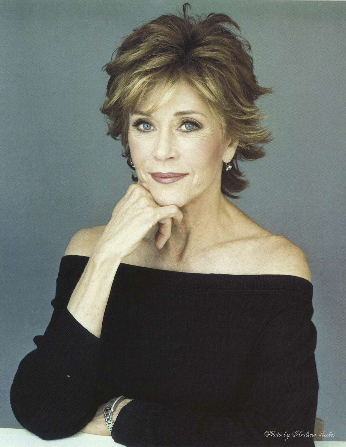 Actress Jane Fonda posed for a portrait to promote her appearance in the 2009 Broadway show,