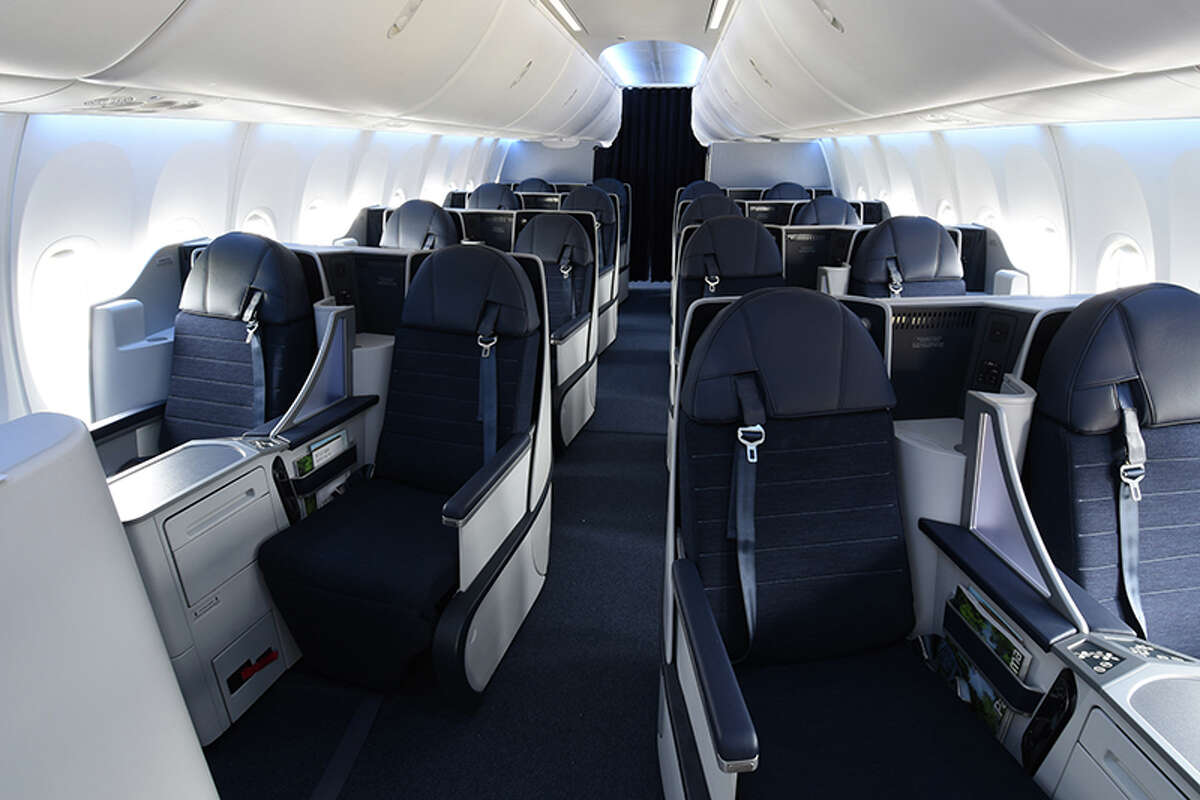 The new Dreams business class section on Copa Airlines new Boeing 737 Max 9 jet