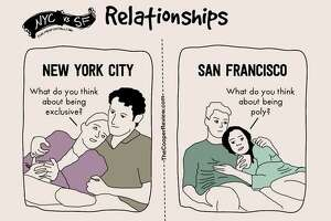 One-time use: Writer and comedian Sarah Cooper created a series of illustrations depicting the difference between living in New York and San Francisco. You can find more on her satirical blog  The Copper Review .