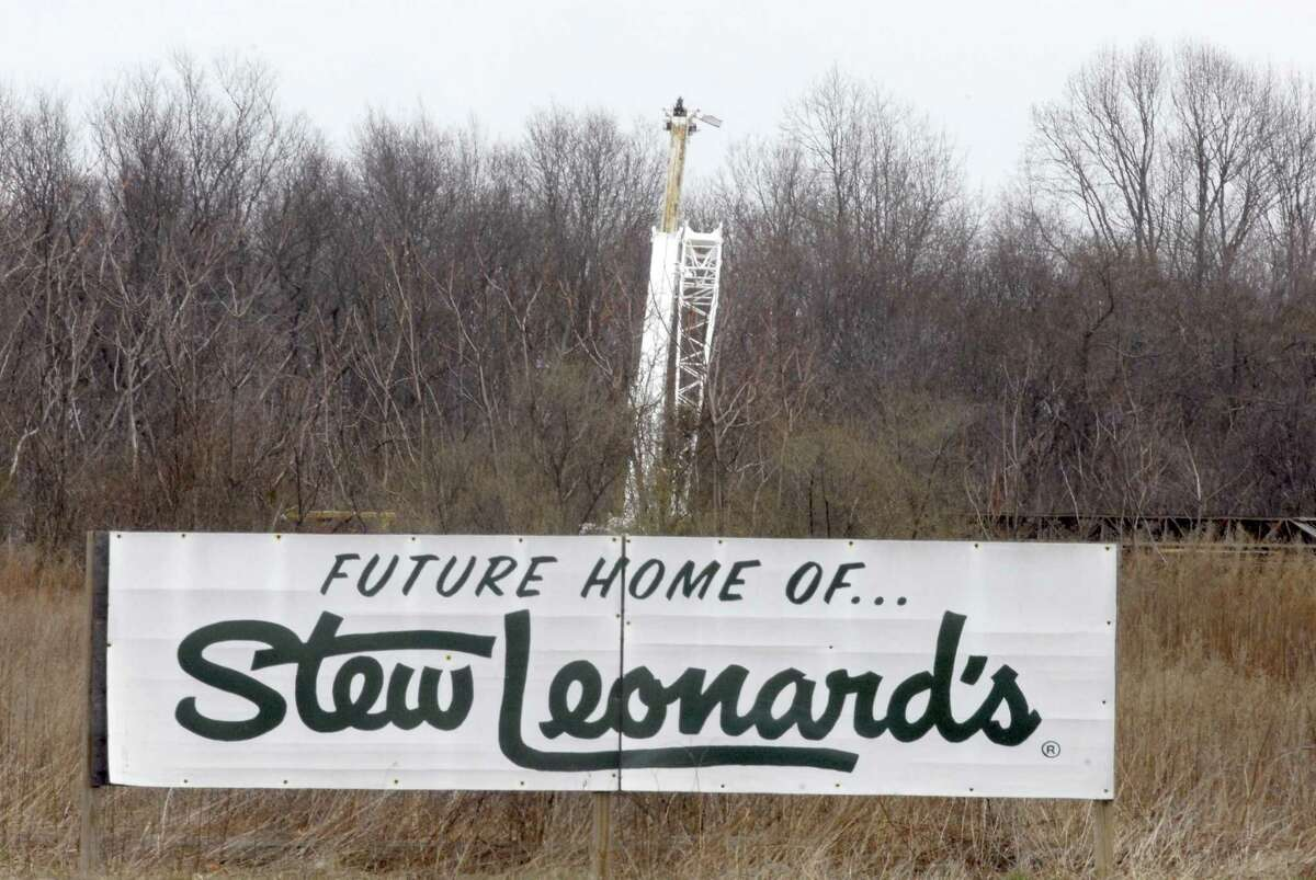 A piece of heavy equipment at the former proposed Stew Leonard's site Wednesday on Marsh Hill Road in Orange in 2008.