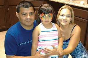 Laredo Morning Times MIS Director Michael Robert Castillo, left, is pictured with his wife, Maribel Castillo, and daughter Victoria Kristelle Castillo.