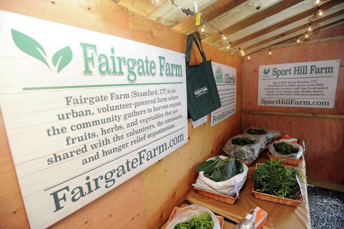 The Fairgate Farm farmers market on Stillwater Ave. in Stamford, Conn. on Thursday, June 7, 2018. The market, which will be open through October, is open on Thursdays from noon to 6 p.m. and on Saturdays from 9 a.m. to noon.