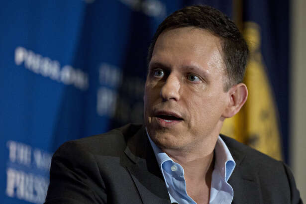 Peter Thiel at the National Press Club in Washington on Oct. 31, 2016.