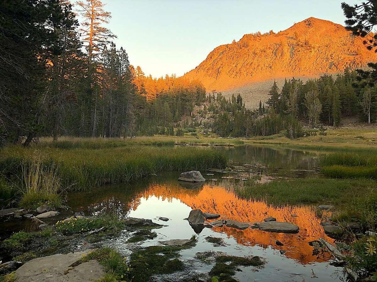 Gray Lake on the Tahoe Rim Trail below Rose Knob