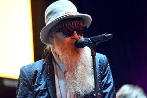 LOS ANGELES, CA - JANUARY 31:  Singer/guitarist Billy Gibbons of the band ZZ Top makes a special appearance with Kings of Chaos during the Adopt The Arts annual rock gala at Avalon Hollywood on January 31, 2018 in Los Angeles, California.  (Photo by Scott Dudelson/Getty Images)