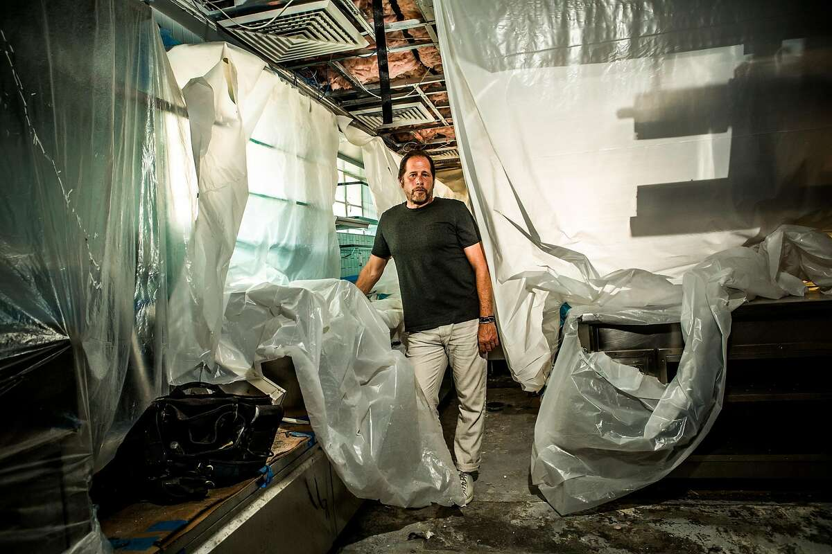 David Kinch, executive chef at Manresa, stands in the closed kitchen of the three-Michelin star restaurant, in Los Gatos, Calif., Aug. 23, 2018. Kinch�s acclaimed kitchen has been closed since mid-July 2018, after its second fire in four years. (Christie Hemm Klok/The New York Times)