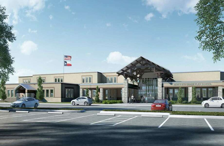 At the board meeting Tuesday night, much of the board's discussion focused on that growth in regard to demographics and attendance boundaries for new schools. The David and Sheree Suchma Elementary campus, is a new K-6 facility in the Oak Ridge feeder zone that is to open in August. Photo: Courtesy Photo / Courtesy Photo