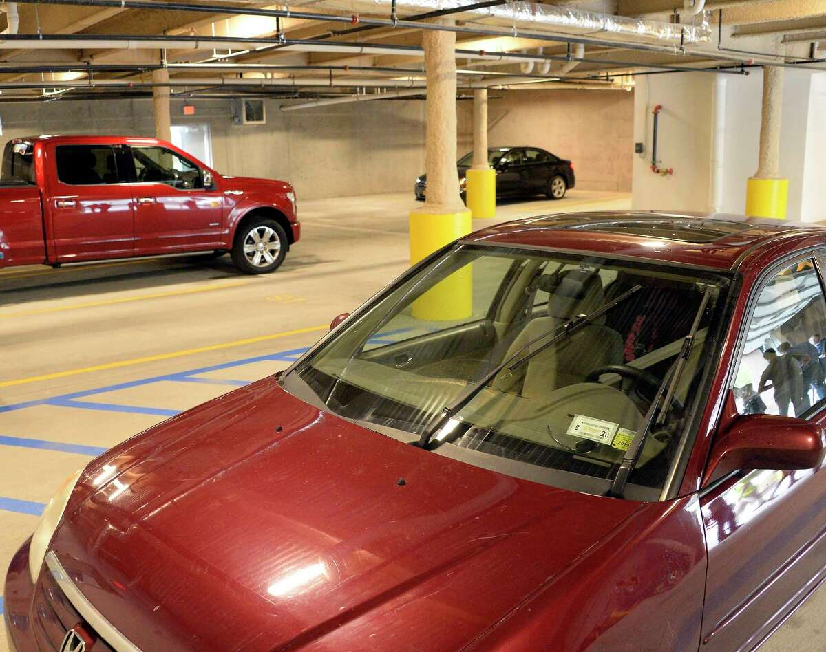 Indoor heated parking garage at the Reserve at Park South on Dana Avenue Tuesday Sept. 18, 2018 in Albany, NY. (John Carl D'Annibale/Times Union)