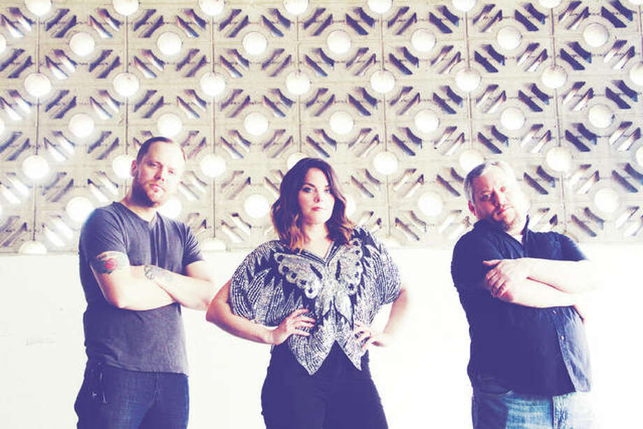 Popular three-piece band Hope & Therapy's lead singer Hope Mader, center, and her husband, Drew, founded Alton's Rock the Hops event. Hope & Therapy will perform on BushFest's outdoor stage Saturday, Sept. 29, at Cottage Hills' VFW. Photo: For The Telegraph