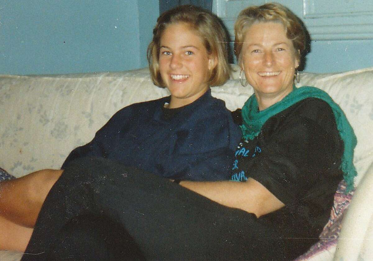 Catherine, 12, with her mother, Kaye, Cleave