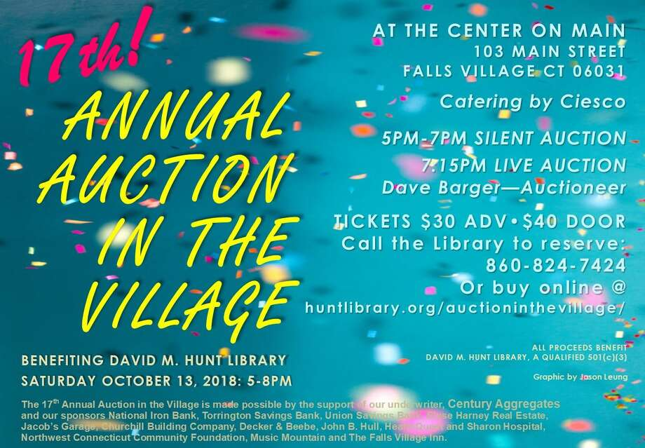 The Hunt Library's Auction in the Village will be held Saturday, Oct. 13. Photo: Contributed Photo /