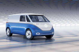 The Volkswagen I.D. Buzz Cargo is the hard-working cousin of last year's I.D. Buzz passenger van concept, and it looks awesome.