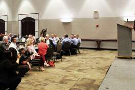 Harris County Sheriff Ed Gonzalez spoke at the Peace Officer and Fire Fighter Luncheon hosted by the Lake Houston Area Chamber of Commerce on Sept. 18,2018.
