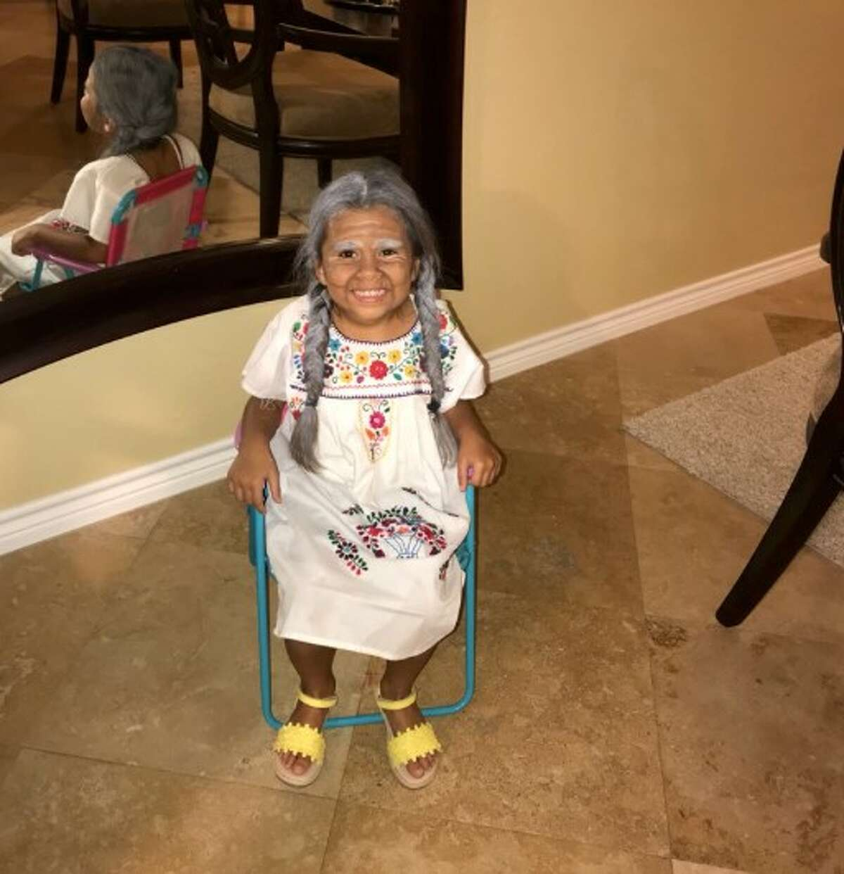 One young Houston girl is melting hearts after her brother shared photos on Twitter of her dressed up as the character 'Mama Coco' from Pixar's hit film 'Coco.' >> One baby, 31 costumes and one VERY extra mom...