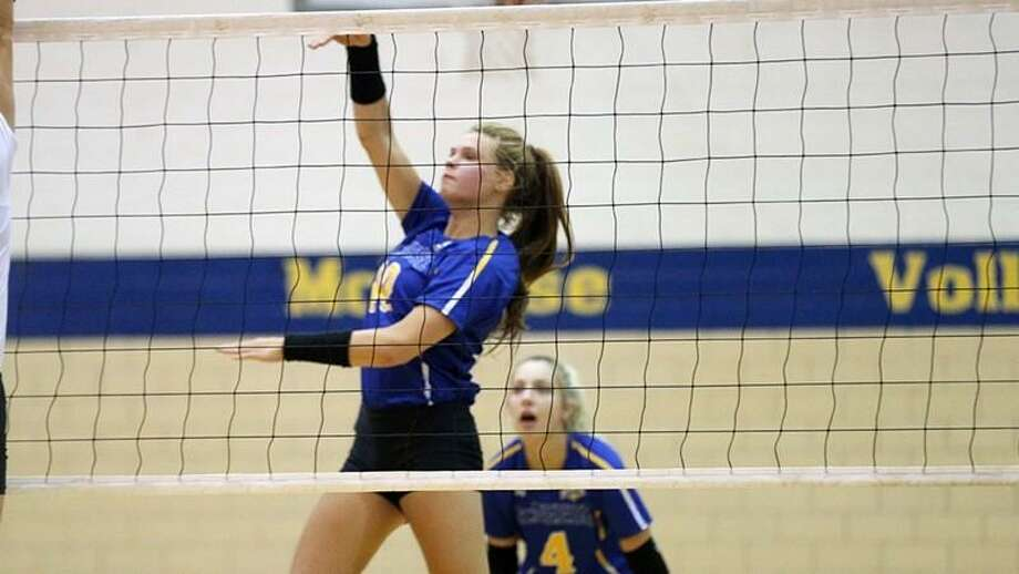Katelyn Elliott, a junior at McNeese State and a 2016 graduate of Montgomery High School, was named to the Rice Adidas Invitational All-Tournament Team this past weekend. Photo: Raymond Stewart / McNeese State Sports Information