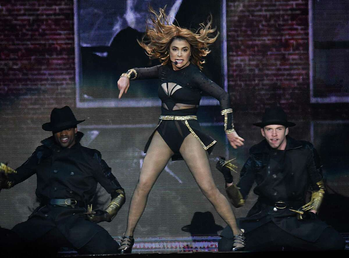 DULUTH, GA - JULY 14: Paula Abdul performs during The Total Package Tour at Infinite Energy Arena on July 14, 2017 in Duluth, Georgia. (Photo by Chris McKay/Getty Images)