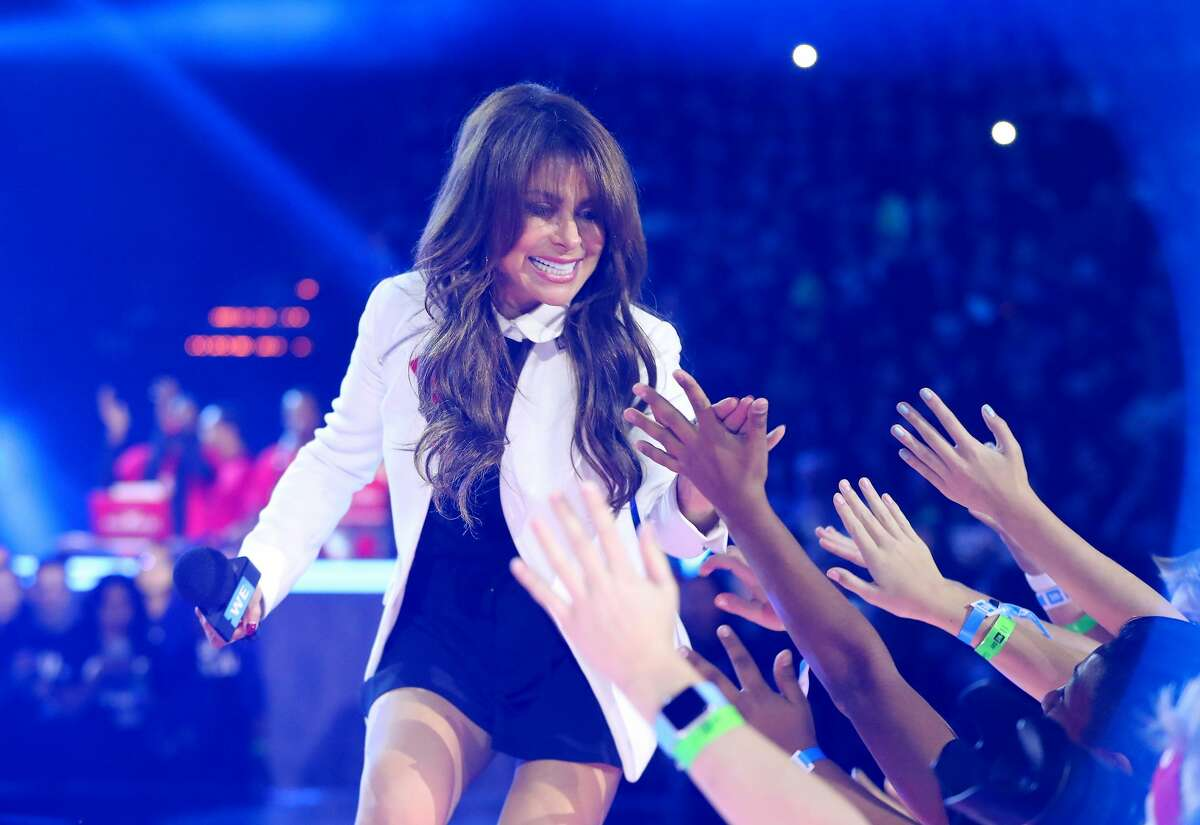 ST PAUL, MN - SEPTEMBER 20: Paula Abdul walks on stage during WE Day Minnesota at Xcel Energy Center on September 20, 2016 in St Paul, Minnesota. (Photo by Adam Bettcher/Getty Images for WE )