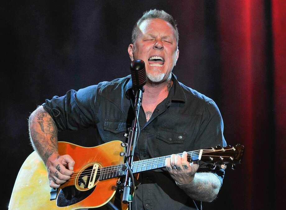 James Hetfield of Metallica performs an acoustic set in 2016. Photo: Steve Jennings/WireImage
