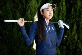 Yealimi Noh stands for a portrait at the Chuck Corica Golf Complex, Tuesday, Sept. 11, 2018, in Alameda, Calif.
