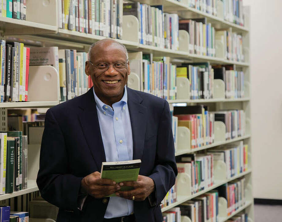 nglish Professor Kamau Njoroge is Lewis and Clark Community College's 2018 Emerson Electric Excellence in Teaching Award recipient. Photo by Jan Dona, L&C Media Services Photo: Lewis & Clark Photo