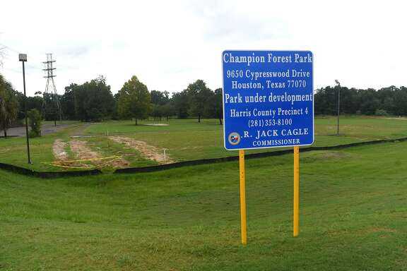 Champions Forest Park, located at Cypresswood Drive and Cutten Road, is scheduled to open in early 2019.