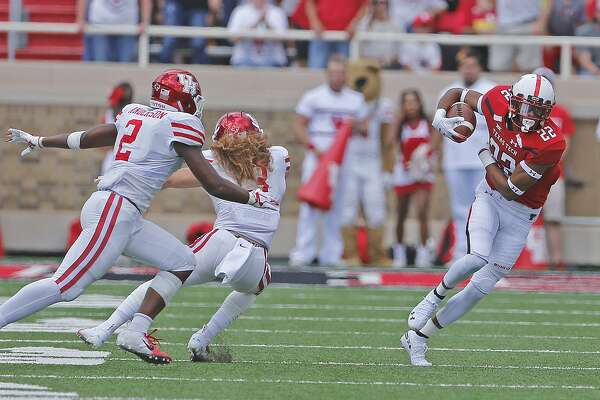 Defensive backs Deontay Anderson (2) and Grant Stuard (3) are among those who have seen UH's last two opponents, Texas Tech and Arizona, reel off 100 plays apiece.