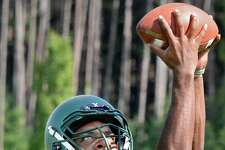 Schalmont High football player Darnell Green during practice Thursday Sept. 13, 2018 in Rotterdam, NY. (John Carl D'Annibale/Times Union)