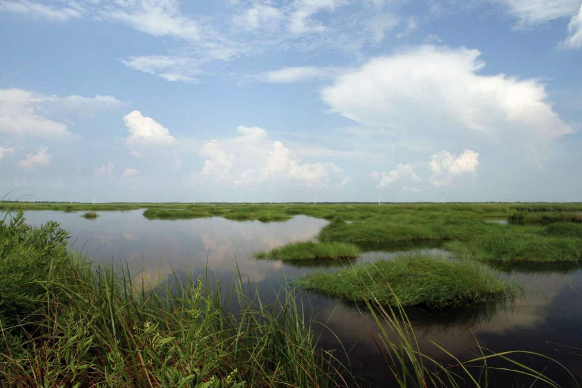 Almost destroyed by saltwater intrusion, this 1,500-acre tract of now-robust coastal marsh in Jefferson County was rebuilt using millions of yards of dredge material, part of almost 100,000 acres improved, restored or protected by the multi-faceted Salt Bayou Project.