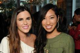 Brittany Fullwood and Lan Bo at a launch party for Kendra Scott's line of charms at The Dunlavy Wednesday Sept.19, 2018.(Dave Rossman photo)