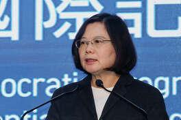 Taiwan President Tsai Ing-wen in Taipei, Taiwan, on Jan. 16, 2016.